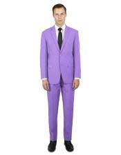 ~ Lilac Classic Fit  Festive Young Prom Affordable Suit