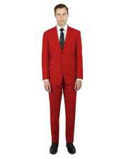 Red Classic Fit  2 ButtonProm