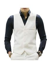 Mens Waistcoat Casual Suit Dress Tuxedo