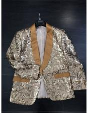 Pattern Fashion Party Shawl Lapel Paisley ~ Sequin Mens Blazer