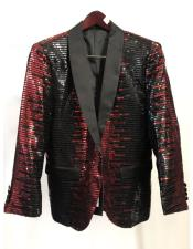 Fashion Party Paisley ~ Sequin Mens Blazer