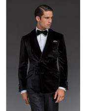 Nardoni Double Breasted Velvet Dinner Jacket Tuxedo Blazer Sport Coat