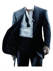 Black Button Closure  james bond Tuxedo
