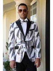 SKU# PFF101 Z762TA Cream ~ Ivory ~ Off White, Six Button Double Breasted Performance Blazer Jacket Coat