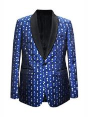 Mens Royal Cheap Priced Dot Pattern big and tall Sport coats