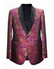Mens Fuchsia Cheap Priced Fashion big and tall Plus Size Sport coats