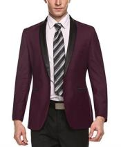 Mens Cheap Fashion big and tall Plus Size Sport coats Jackets Blazer For Guys Wine Red