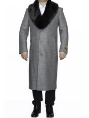 Big And Tall Overcoat Long Mens Dress Topcoat -  Winter