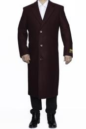 Big And Tall Overcoat Topcoat 4XL 5XL 6XL Burgundy ~ Wine
