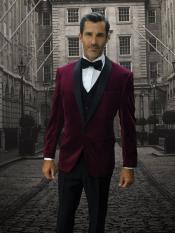 Mens Velvet Suit Jacket
