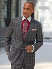 Charcoal Grey ~ Gray Plaid ~ Windowpane Suit Separates Sale
