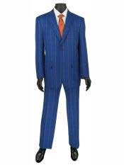 2 Buttons Plaid ~ Window pane Suit Blazer Jacket Pants Blue