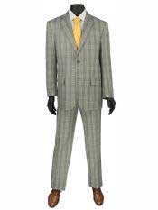 Buttons Plaid ~ Window pane Cheap Priced Business Suits Clearance Sale