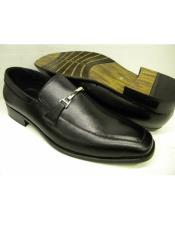 Slip On Black Leather