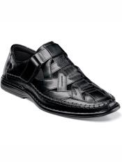 Mens Fully Cushioned Slip On Closed Toe Sandal Black