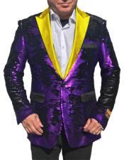 """Alberto Nardoni Shiny Sequin Tuxedo Bright Gold Lapel """"paisley"""