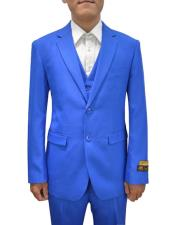 Mens Royal  Vested 3 Piece