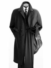 Mens Dress Coat Belted