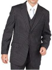 Gray Pinstripe 2 Button