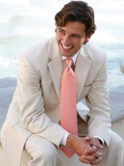 and Match Suits Mens Light Tan ~ Beige 2 Button Wedding