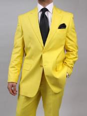 Mix and Match Suits Mens Two Button Yellow Suit Separate Any Size