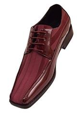 Cushion Insole Lace Up Style Burgundy Dress Shoes