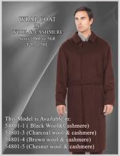 Mens Overcoat Mens Topcoat Mens Brown
