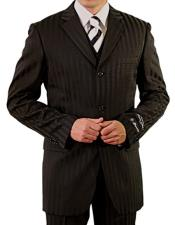 Single Breasted Notch Lapel Three Button Vest Suit
