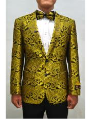 Alberto Nardoni Unique Mens Floral ~ Fancy Fashion Paisley Blazer Sport Coat + Matching Bow Tie Perfect