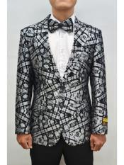 Alberto Nardoni Unique Mens Floral ~ Fancy Fashion Paisley Blazer Sport