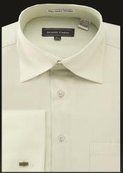 Mens Avanti Uomo French Cuff Shirt Sage
