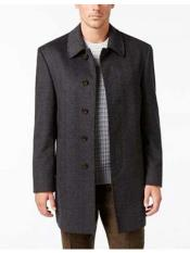 Dress Coat Five  Button Single Breasted Herringbone Wool Blend