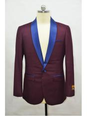 Blazer Burgundy ~ Navy Tuxedo Dinner Jacket and Blazer Two Toned
