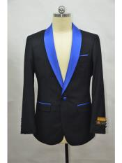 Mens Blazer  Black ~ RoyalBlue