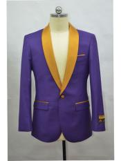 Blazer  Purple ~ Gold Tuxedo Dinner Jacket and Blazer Two Toned
