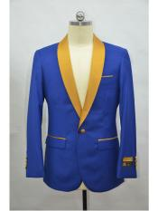Mens Blazer  RoyalBlue ~ Gold Tuxedo Dinner Jacket and Blazer Two