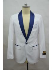 Blazer  White ~ NavyBlue Tuxedo Dinner Jacket and Blazer Two Toned