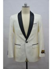 Blazer  Ivory ~ Black Tuxedo Dinner Jacket and Blazer Two Toned