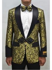 Mens Champagne  Shawl Lapel Two