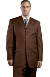 Solid Brown Pinstripe ~