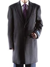 Dress Coat Caravelli Long Jacket  2 Buttons Style Mens Carcoat