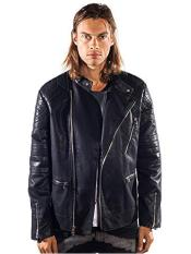 Barabas Gunner Gold Leaf Regular Fit Black Jacket