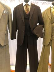 Single Breasted Notch Lapel Light Brown Suit