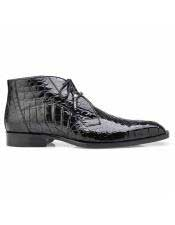 Mens Authentic Alligator Lace Up Black Cap Toe Authentic Genuine Skin Italian