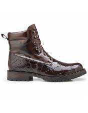 Belvedere Brand Alligator Brown