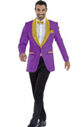 Blazer Dark Purple ~ Gold Two Toned Tuxedo Dinner Jacket Perfect
