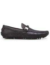Mens Authentic Slip On Black Calf ~ Leather Shark Skin belvedere Tennis