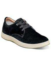Authentic Lace Up Suede ~ Nubuck Black Authentic Genuine Skin Italian Tennis Dress Sneaker Shoes