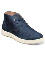 Mens Authentic Belvedere Brand Lace Up Suede ~ Nubuck Blue Shoe