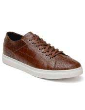 Authentic Lace Up Brown belvedere Tennis Sneaker Shoes